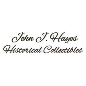 John J. Hayes Historical Collectibles Website